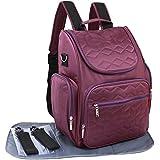 KF bebé Multi bolsillo mochila de viaje bolsa de pañales + cambiador, correas para el carrito