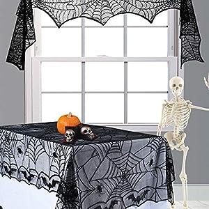JH&MM Halloween Mantel Encaje Negro