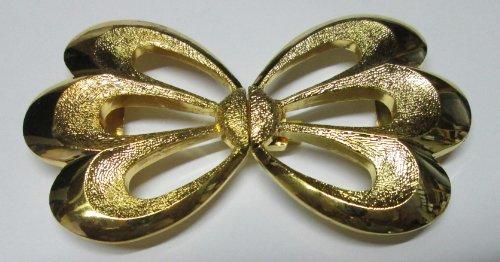 Gürtelschließe goldner Schmetterling 30 mm