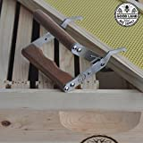 Goodland Bee Supply Polished and Brushed Stainless Steel and Hardwood Handle Bee Hive Frame Tool - GLFG