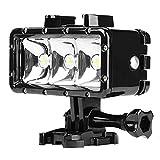 AWAKMER Dimmable Doppelbatterie Der Hohen Leistung Wasserdichte LED-Video-Licht-Fülle-Nachtlicht-Tauchens-Unterwasserlicht,Black