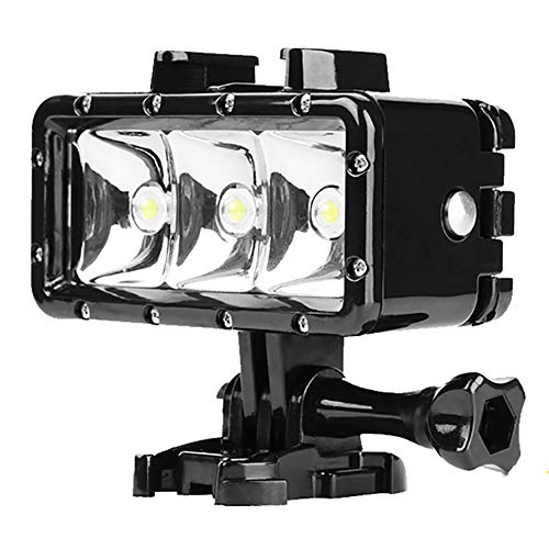 Dimmable Doppelbatterie Der Hohen Leistung Wasserdichte LED-Video-Licht-Fülle-Nachtlicht-Tauchens-Unterwasserlicht,Black