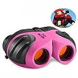 Spielzeug für 3-12 Jahre alte Mädchen, Top Geschenk Compact Fernglas für Kinder Geschenke für Teen Girl Geburtstag Präsentiert Pink TG010