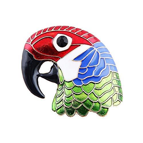 Hexiansheng Brosche Brosche Malerei Öl Eagle Specht Papagei Kopf Brosche gemalt Corsage kreative fallen ()