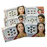 Bindi Paket 6 Kärtchen Mix Pack Stirnschmuck selbstklebend Bollywood Schmuck
