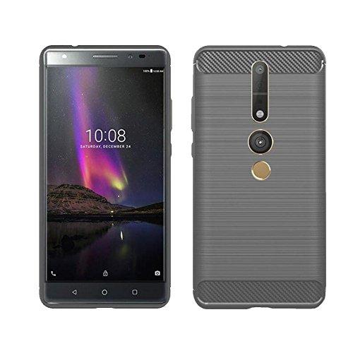 MaxKu Lenovo PHAB2 Pro Hülle, Ultra Slim Schutzhülle Soft Silikon TPU Bumper Case Cover Handyhülle für Lenovo PHAB2 Pro, Grau