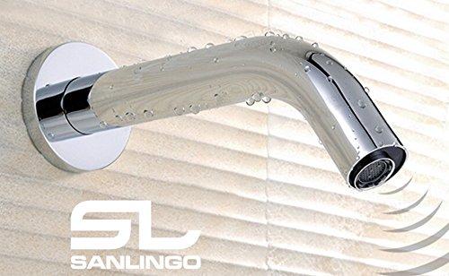 Unterputz Infrarot IR Armatur Wasserhahn Automatik Waschbecken Chrom Kaltwasser Sanlingo