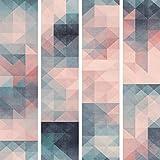 murando Papier Peint intissé PURO 10 m Décoration Murale XXL Poster Tableaux Muraux Tapisserie Photo Panneau décoratif Photo sur le mur Trompe l'oeil geometrique bleu rose f-A-0673-j-d