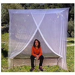 EVEN Naturals MOUSTIQUAIRE Premium baldaquin pour lit Simple, Kit de Suspension Complet, Sac de Transport et eBook génial, Filet rectangulaire Qui Vous protège et Repousse Les Insectes
