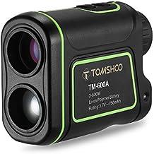 TOMSHOO Telémetro de Golf 600m 7x 24mm Multi-Modo Medir Distancia Altura Ángulo y Velocidad USB Recargable Ideal para Caza Golf Montañismo Aventuras (VERSIÓN NUEVA)