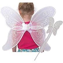 Lucy Locket- Set de alas y varita de hada en color blanco para niñas
