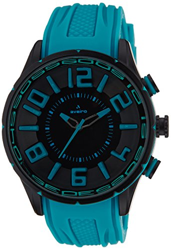 Aveiro Analog Black Dial Men's watches's Watch - AV65BKBLU