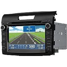 "Radio Navegador GPS Honda CRV 2012> - 2 DIN pantalla 7"" HD GPS DVD iPod USB SD BT"