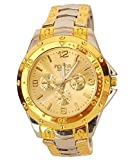 #6: BLUTECH Golden Silver Analog Watch For Men