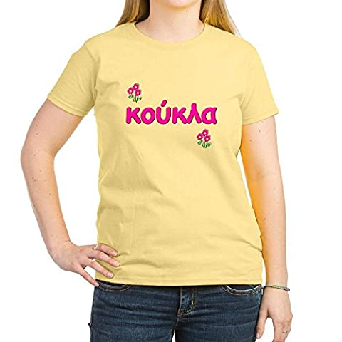CafePress - Greek little Doll - Koukla Women's Pink T-Shirt