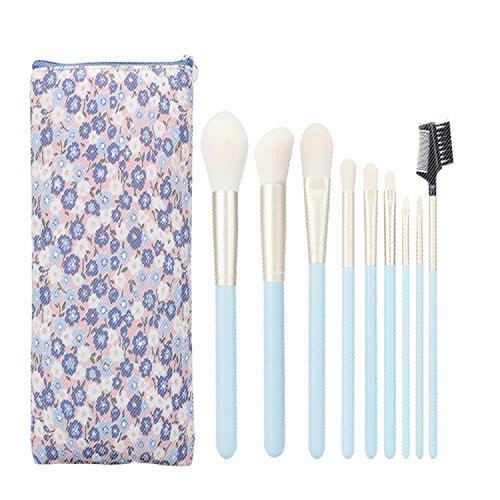 QCBC 9Pcs Make-up Pinsel Kit professionelle Kosmetik Set Stiftung Pinsel Pulver Pinsel Lidschatten Pinsel blau