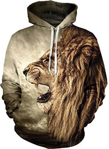 Imagen de leslady unisex sudadera capucha manga larga sudadera capucha chaqueta con bolsillos sudadera casual prendas de abrigo sudadera con capucha 3d impresión