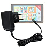 Chargeur secteur à prise murale pour Lexibook Tablet Fluo XL (MFC191FR2) tablette enfant / ado écran HD 9 pouces - charge rapide 2 amp et port micro USB, par DURAGADGET