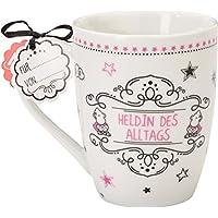 Sheepworld 59258 Lieblingstasse Heldin des Alltags, Porzellan-Tasse, mit Geschenk-Anhänger
