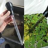 SENZEAL Pipette mit Skala Dropper Kunststoff Wasserwechselwerkzeug Abfallentferner für Aquarium Schwarz