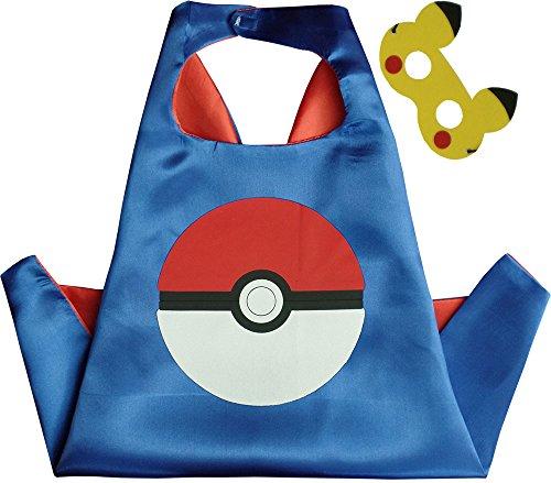 Special ABC Party Pokemon Pokeball Blau Kindes Umhang & (Abc Partei Kostüm)