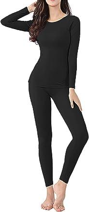 AjayR Womens Thermal Underwear Set Ultra Warm Lightweight Soft Baselayer