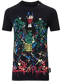 9e254de027c7a Philipp Plein T-Shirt - Col Rond - Manches Courtes - Homme Noir Noir