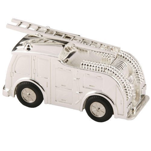 Silverplated Fire Engine Money box