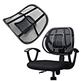 Super Comfort Mesh Lumbar Back Seat Sit Tight Support System Pain Relief for Office Chair Seat etc with Elasticated Positioning Strap and Mesh Grill