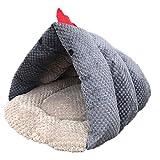 Mzdpp Katze Nest Schlafsack Winter Iglu Höhle Hund Bett Haus Weich Warm Grau Huhn Form 45X40X28Cm