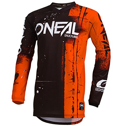 O\'Neal Element Shred Motocross Jersey Enduro MX Cross Trikot Mountain Bike DH FR MTB Motorrad, 001E-Adult, Farbe Orange, Größe 2XL