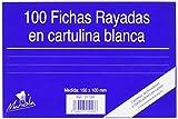 mariola pack 100 fichas rayadas cartulina dimensiones 150x100 mm ref.3113r