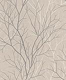 Rasch Vlies Tapete - Größe: 0,53 x 10,05 m - Farbe: erdtöne, braun, grau - Stil: Muster & Motive (natürlich)