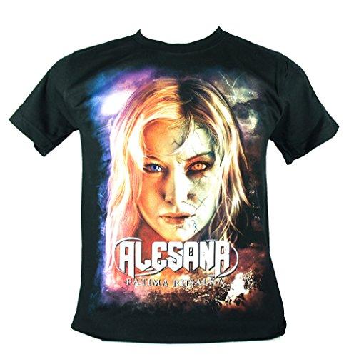 Alesana-Maglietta da uomo nero Fatima Rusalka Medium Size M