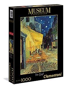 Clementoni - Puzzle Grandes museos 1000 Piezas Van Gogh: Café de Noche Exterior (31470)