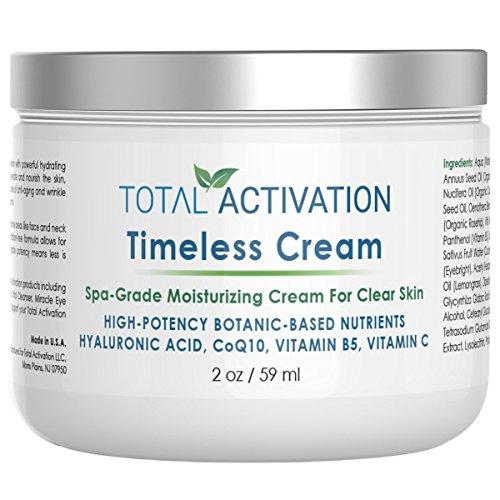 Collagen feuchtigkeitsspendende Gesichtscreme Tag & Nacht, trockene, ölige und empfindliche Haut, Collagen-Protein-Peptide, Anti-Aging & Anti-Falten mit natürlicher Hyaluronsäure, CoQ10, 2 oz -