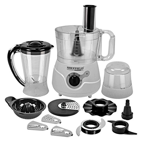 Sheffield Classic Sh 1021 550 Watt Juicer with 11 Attachments Food Processor (White)
