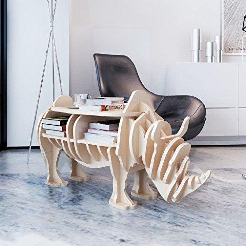 furnituredeals Regal mit aus Holz, Maße 82x 5x 39cm (L x B x H) Nashorn Zuhause zum-Organizer. (Bücherregal Birke 5-regal)