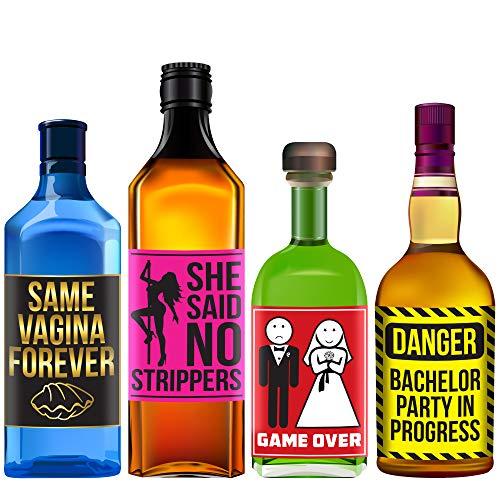 unggesellenabschied Flaschenetiketten Spirituosen - Lustige Bachelorparty Ideen, Zubehör, Geschenke und Dekorationen - Trinkspiele ()
