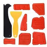Kuuqa 9 pezzi di silicone sigillante strumenti di finitura strumento di calafataggio levigante per cucina bagno di tenuta del pavimento, rosso