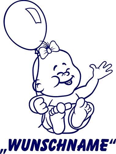 INDIGOS UG - Babystrampler / Strampler 020 mit Wunschname / Wunschtext schwarz 86/92