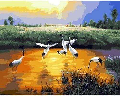 YKCKSD Puzzle Puzzle Puzzle Adulte 1000 Pièces Kit Oiseaux sur Le Lac Art Unique Gift for Home Decor   Approvisionnement Suffisant  c84283