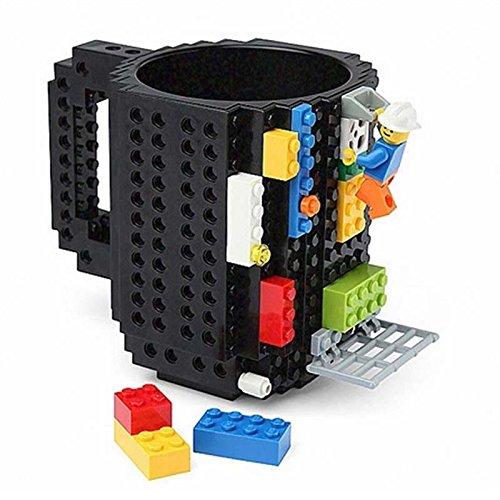 Building Brick Mug, Pixelblocks Tasse, Lego Tasse, DIY Brick Tasse Building Blocks Kaffeetasse Puzzle-Becher - 2