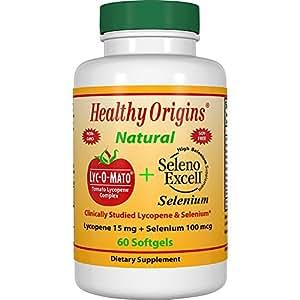 Healthy Origins, Lyc-O-Mato, Complexe de Lycopène de Tomate , 60 Gélules