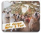 Kopierladen Mousepad/Mauspad mit eigenem Foto, Bild oder Text gestalten, ca. 23x19 cm, personlisierbar, Rutschfest und flexibel - Fotogeschenk