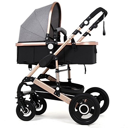 4bd9f773ddd QWM-Baby child bicycles Newborn Baby Carriage Foldable Can Sit And Lie Down  Damping Baby Cart for 1 Month -3 Years Old Baby Two-way Four Wheels Avoid  ...