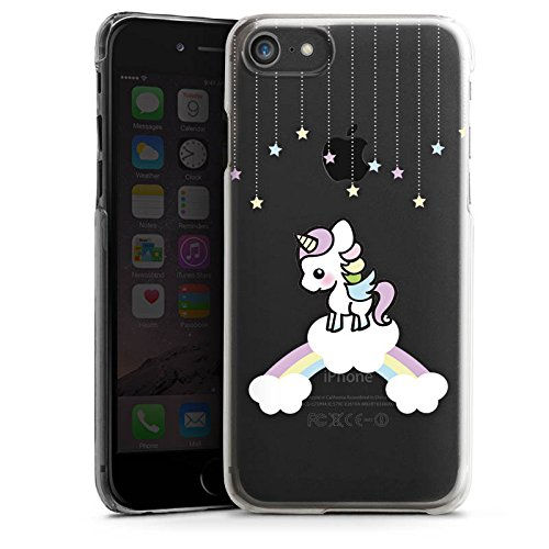 Apple iPhone X Silikon Hülle Case Schutzhülle Motiv ohne Hintergrund Einhorn Unicorn Hard Case transparent