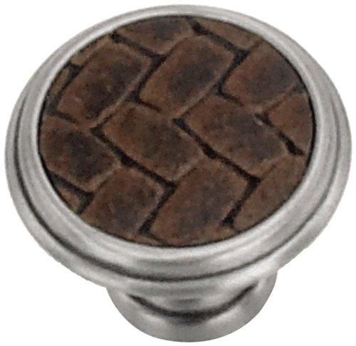 Laurey Cabinet Hardware Knauf, rund, 3,2 cm Modern Satin Nickel and Brown -