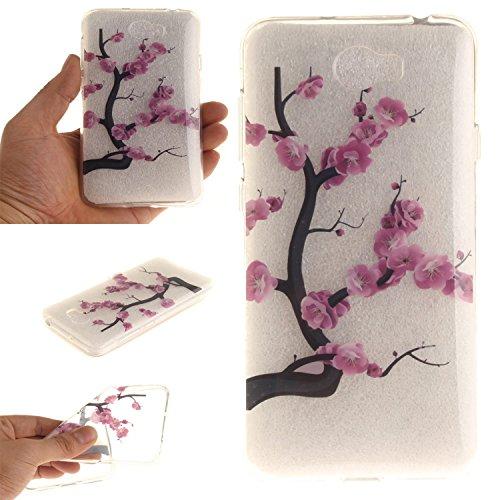 Guran® TPU Silikon Hülle für Apple iPhone 6 6S (4,7 Zoll) Smartphone Gemalt Schutzhülle Cover-Kirschbaum color a52