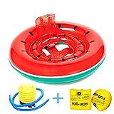 Rufun Schwimmsitz für Baby Schwimmring mit Hautpflege PVC für Kleinkinder von 6 Monaten bis 3 Jahren (Wassermelone)